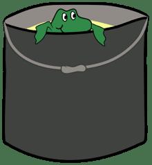 frosch im eimer