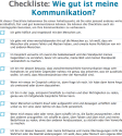 Checkliste-Kommunikation