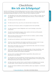 Checkliste-Erfolg