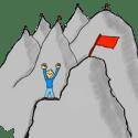 Bergsteiger – Durchhalten