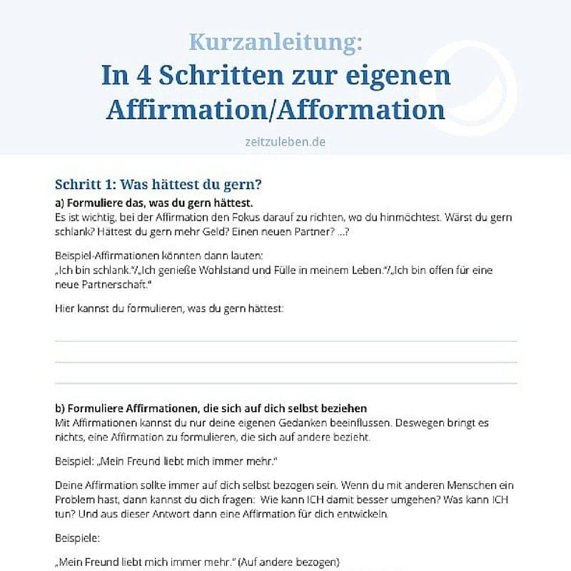 AffirmationAfformation