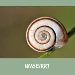 unbeirrt