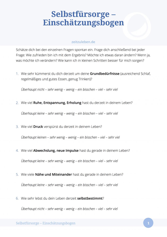 Einschätzungsbogen