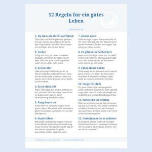 Regeln gutes Leben